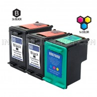 Compatible HP C9364WN (HP 98) and C8766WN (HP 95) Set of 3 Ink Cartridges: Includes 2 Black and 1 Color Cartridge