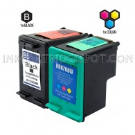 Compatible HP C9364WN (HP 98) and C8766WN (HP 95) Set of 2 Ink Cartridges: Includes 1 Black and 1 Color Cartridge