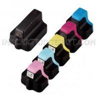 HP 02 Compatible Set of 6 Ink Cartridges: 1 Black + 1 Cyan, 1 Magenta, 1 Yellow, 1 Light Cyan, 1 Light Magenta