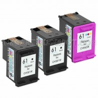 Replacement Hewlett Packard (HP) CH561WN (61) and CH562WN (61) Set of 3 Ink Cartridges