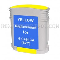 HP C4913A / HP 82 Yellow Compatible Ink Cartridge - 3,200 Page Yield