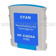 Hewlett Packard C4836AN / C4836A (HP 11 Cyan) Compatible Ink Cartridge - 1,200 Page Yield