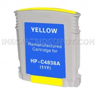 Hewlett Packard C4838AN / C4838A (HP 11 yellow) Compatible Ink Cartridge - 1,200 Page Yield