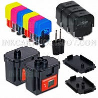 DIY Do-It-Yourself HP 62 HP 62XL Black and Color COMPLETE Ink Refill System