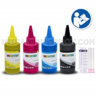 4x 100ml Premium Refill Kit with syringes for HP 61 61XL Black and Color Ink Cartridges