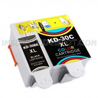 Kodak Compatible #30XL Set of 2 Ink Cartridges: 1 Pigment Black & 1 Color