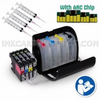 EMPTY CISS SYSTEM for Brother LC103 LC101 LC105 LC107 Refill Ink Cartridges
