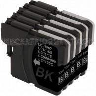 10 Pack Brother Compatible LC61Bk Black Ink cartridges