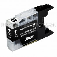 Brother Compatible LC75BK/LC71BK High Yield Black Ink Cartridge - 600 Page Yield