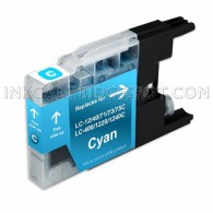 Brother Compatible LC75C/LC71C High Yield Cyan Ink cartridge - 600 Page Yield