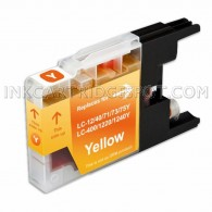Brother Compatible LC75Y/LC71Y High Yield Yellow Ink cartridge - 600 Page Yield