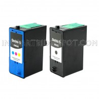 2-PK: DELL M4640 & M4646 Compatible (Series 5) - 1 Black & 1 Color High Capacity Ink Cartridges