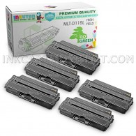 5 Pack Compatible MLT-D115L (MLT-D115S) High Yield Toner Cartridges