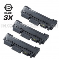 3 Pack Compatible Samsung MLT-D116L (MLT-D116S) High Yield Toner Cartridges