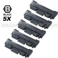 5 Pack Compatible Samsung MLT-D116L (MLT-D116S) High Yield Toner Cartridges