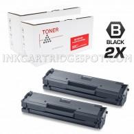 2 Pack Compatible Samsung MLT-D111S MLTD111S Black Laser Toner Cartridge