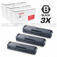 3 Pack Compatible Samsung MLT-D111S MLTD111S Black Laser Toner Cartridge