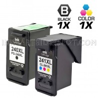 Canon PG240XL and CL241XL Set of 2 Compatible High Yield Ink Cartridges: Includes 1 Black and 1 Color Cartridge