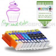 10-Pack Edible Ink Cartridges for PGI-250 CLI-251 XL PGI250 CLI251 XL for IP7220 IX6820 MG5420 MG5422 MG5520 MG5522 MG5620 MG5622 MG6420 MG6620 MX722 MX922