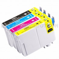 Replacement Epson T126 Set of 4 High Yield Ink Cartridges: 1 Black (T1261) & 1 Cyan (T1262), 1 Magenta (T1263), 1 Yellow (T1264)