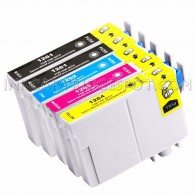 Replacement Epson T126 Set of 5 High Yield Ink Cartridges: 2 Black (T1261) & 1 Cyan (T1262), 1 Magenta (T1263), 1 Yellow (T1264)