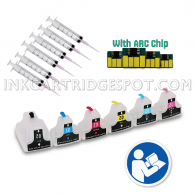 INKUTEN EMPTY Refillable Cartridges for HP 02 02XL Easy-to-refill With Resettable Chips With Syringes & Needles