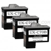 3 Pack Sharp UX-C70B Compatible Black Ink Cartridges