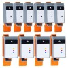 10 Pack: Canon BCI-15BK BCI-16CLR Compatible Ink Cartridges (6BK,4CLR)