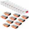 Compatible Brother TN750 Set of 10 Black Laser Toner Cartridges - 80000 Page Yield