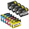 10 Pack Ink Cartridges Replacement for HP 932XL & 933XL - 4 Black CN053AN ink cartridge, 2 Cyan CN054AN, 2 Magenta CN055AN, 2 Yellow CN056ANM