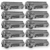 Compatible HP CE285A - (HP 85A) (Set of 10-Pack) Black Laser Toner Cartridge  - 16000 Page Yield