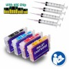 4 Refillable Cartridges for EPSON 200 T200XL 200 XL Auto Reset Chips (Pre-filled)