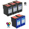 Compatible HP C6656AN HP 56 and C6657AN HP 57 Set of 5 Ink Cartridges: Includes 3 Black and 2 Color Cartridge